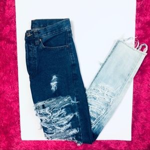 Levi's • Vtg 901 Fully Destroyed Bleached Jeans
